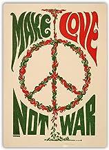 Make Love Not War Cartel de pared de metal obra de arte vintage advertencia paisaje colgante Bar Fiesta de cumpleaños Navidad Regalo