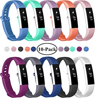 Fundro Replacement Bands Compatible with Alta and Alta HR, Newest Sport Strap Wristband with Secure Buckle(10 Pack)