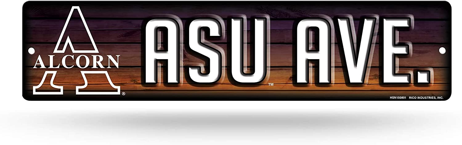 NCAA Alcorn State Braves 16-Inch Plastic Street Sign Décor