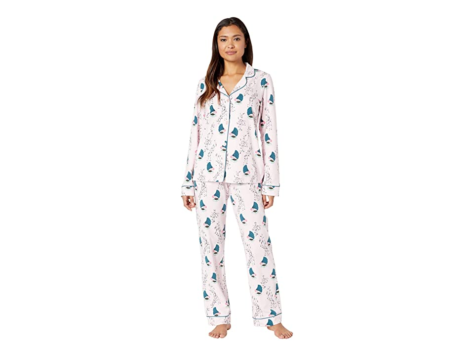 BedHead Long Sleeve Classic Notch Collar Pajama Set (Songbirds) Women
