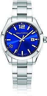 Philip Stein Men's Traveler Swiss-Quartz Watch with Stainless-Steel Strap, Silver, 9 (Model: 92-CBL-SS)