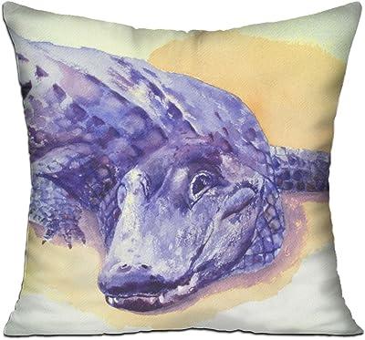 Wqbzl Alligator Watercolor Fashion Decorative Throw Pillow Deluxe Pillows 18 X 18 Home Kitchen
