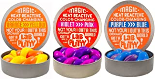 JA-RU Lab Putty Color Changing Heat Sensitive (3 Pack, Assorted) Best Thinking Smart Crazy Stress Putty with Tin, Sensory & Bouncing Toy Favors. 9576-3A
