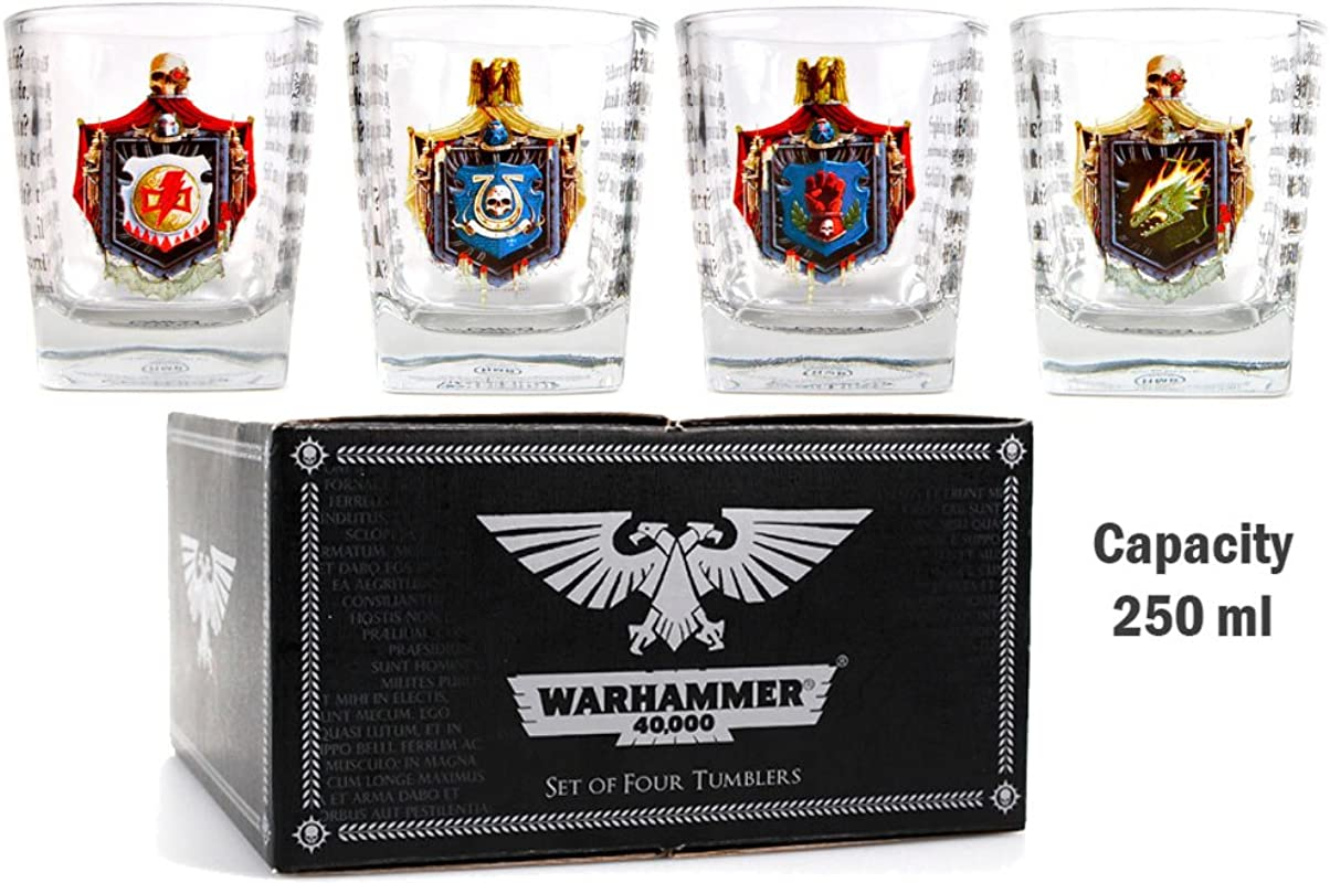 Warhammer 40 000 Set Of 4 Glass Tumblers Chapter