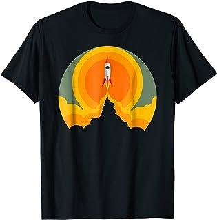 Retro Rocket Ship Launching T-shirt space