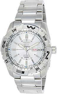 SEIKO Men's Automatic Watch, Analog Display and Stainless Steel Strap SNZJ03J1