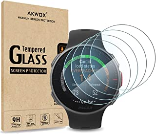 (Pack of 4) Tempered Glass Screen Protector for Polar Vantage V, Akwox [0.3mm 2.5D High Definition 9H] Premium Clear Scree...