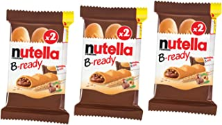 Nutella B-ready Crispy Wafers with Hazelnut and Cocoa Filling, 44g (Pack of 3)