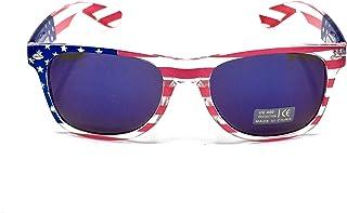 American Flag Sunglasses For Women And Men, Color Mirror Lens, Patriotic USA Sunglasses