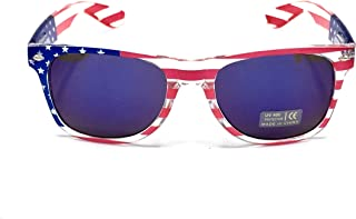 American Flag Sunglasses For Women And Men, Color Mirror Lens, Patriotic USA Sunglasses