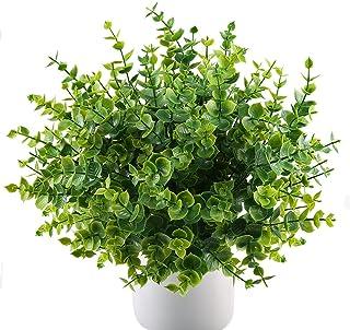 comprar comparacion MIHOUNION 4 pcs Plantas Verdes Artificiales eucalipto Hojas arbustos de plástico y arreglo de Ramo simulación de Plantas d...