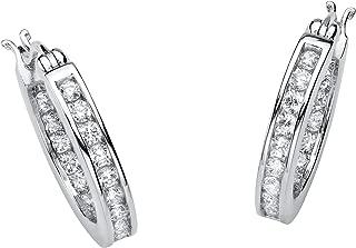 Best silver diamond hoop earrings Reviews