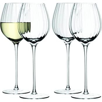 LSA International Borough Wine Glasses 380ml Clear Set of 4 Boxed