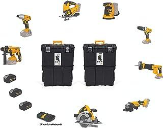 VITO Professional 20 V 3 x 4,0 Ah batteriverktygsset (PowerPack8) batterikombinationssats verktygssats batteristicksåg, sk...