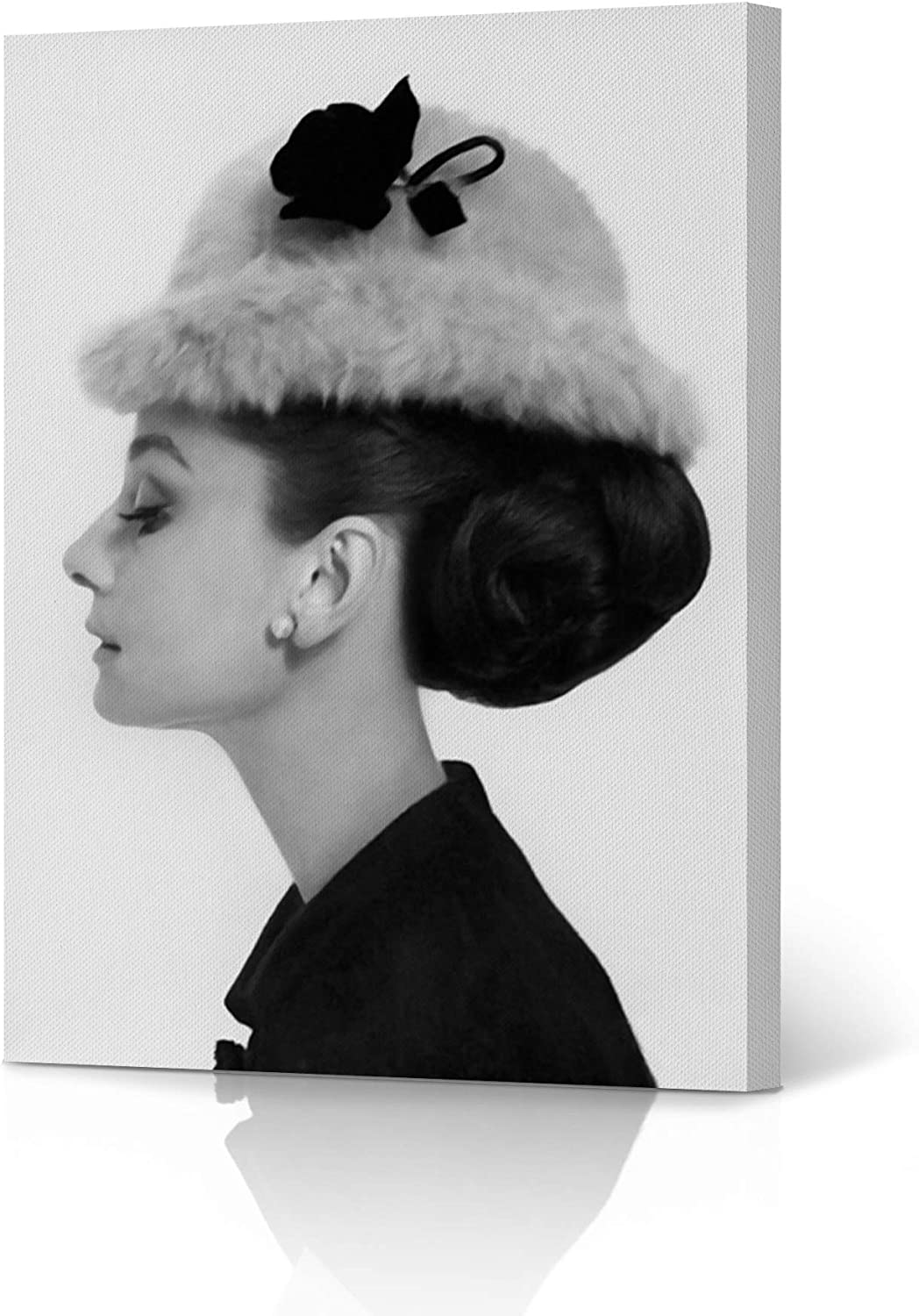 Canvas picture canvas audrey hepburn hooped Fine Art Home Furnishings