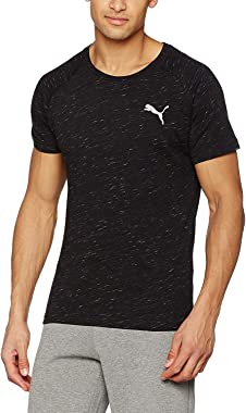 Mens Evostripe Tee Shirt Crew Neck Keeps You Dry X-Large Black Heather