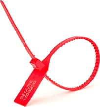 Secure™ Cable Ties 13 Inch Heavy-Duty Red Pull Tight Plastic Seal - 100 Pack