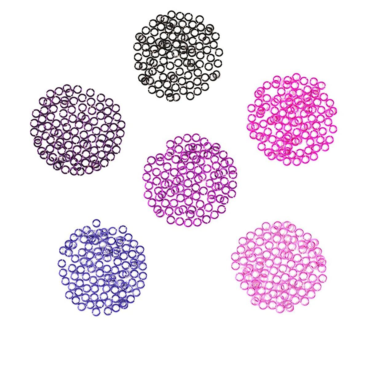 Berry Patch - Enameled Copper Jump Rings – 20 Gauge – 4.0mm ID - 600 Rings - Amethyst, Black, Fuchsia, Hot Pink, Lavender, Purple