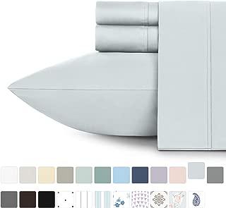 California Design Den 400 Thread Count 100% Cotton Sheets - Light Grey Long-Staple Cotton Full Sheets, Fits Mattress Upto 18'' Deep Pocket, Soft Sateen Weave 4-PC Cotton Bedsheets and Pillowcases