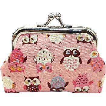 Dark Blue GBSELL Women Fashion Owl Coin Purse Long Wallet Clutch Handbag Card Holder