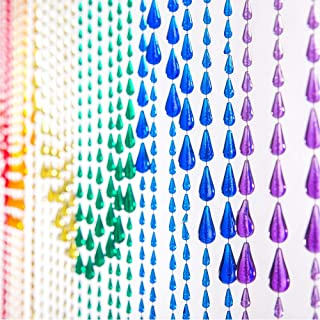 6FT Rainbow Iridescent Raindrop Curtain