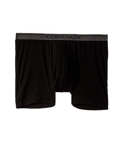 Icebreaker Anatomica Merino Boxers w/ Fly (Black 1) Men