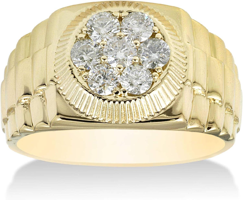 3/4ct Diamond Mens Ring 14K Yellow Gold