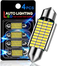 """AutoLite Led Festoon Bulbs 39mm 1.54"""" 6411 7065 DE3425, Super Bright Automotive Interior Car Light Bulbs, White 6000K with CANBUS Error Free, Best for Led Dome Light Map Trunk License Plate Lights"""