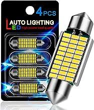 "AutoLite Led Festoon Bulbs 39mm 1.54"" 6411 7065 DE3425, Super Bright Automotive Interior Car Light Bulbs, White 6000K with..."