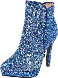 Suchergebnis auf für: pailletten Blau Stiefel