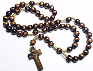 Holy Relic Rosary Touched to First Class relics of St Dymphna St Maximilian Kolbe & St Rita patrons Mental Health Depression Anxiety Drug use AA NA Recovery Sobriety Addiction Christmas (Dark Brown)