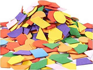 Juvale Foam Stickers - 1000-Pack Self-Adhesive EVA Foam Stickers DIY Crafts, School Projects, Decorations, Geometric Shapes, Multi-Colored