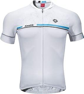 Santic Maillot Cyclisme Homme Maillot Velo Homme Manches Courtes Route VTT /Élastique avec Poche Kamen