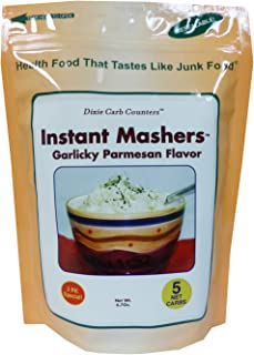 Dixie Carb Counters Garlicky-Parmesan Flavor Instant Mashers - Low Carb Potatoes Substitute