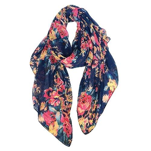 US SELLERrose flower gold print trendy scarf shawl for sale