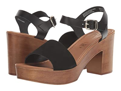Seychelles Jump For Joy (Black Suede/Leather) Women