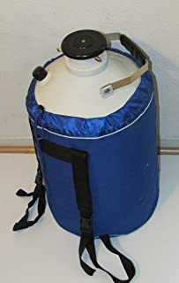 Liquid Nitrogen Ln2 Storage Tank, Cryo Container Dewar, with Canisters & Strap (30L)