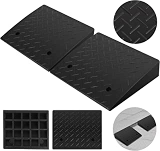 Mophorn 2 Pack Rubber Curb Ramp 4.3