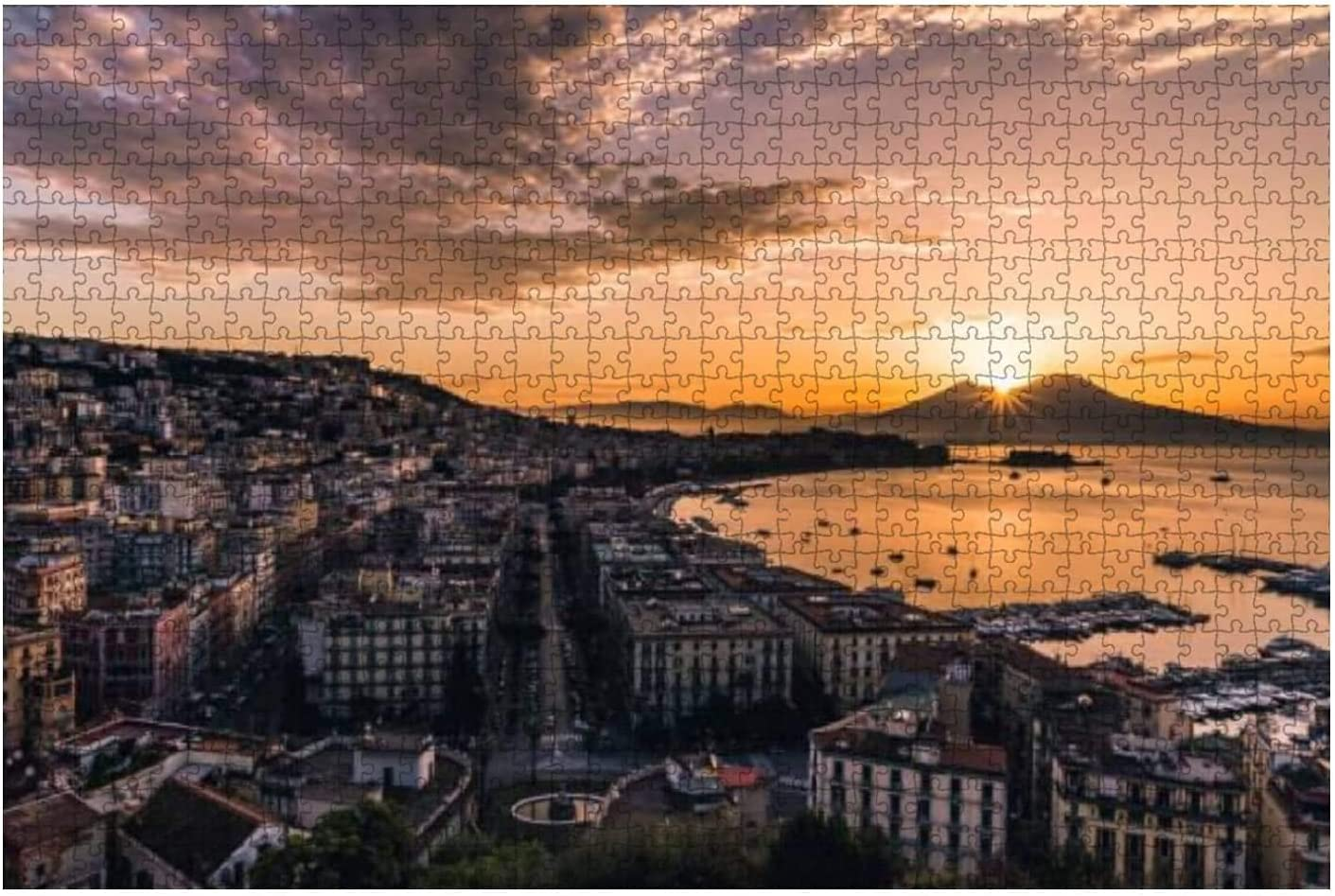NEW before selling ☆ 1000 Pieces-Breathtaking Sunrise 2021new shipping free shipping in Naples Sunset Italy St Ocean