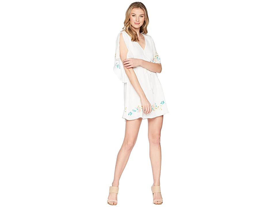 Jack by BB Dakota Gwendolyn Dress with Embroidery (Bright White) Women
