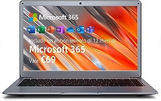 Jumper 13,3-tums FHD Laptop Windows 10 bärbar dator Microsoft 365, 4GB RAM 64 GB eMMC Notebook, Wi-Fi dual-band, HDMI, Blu...