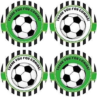 Soccer Ball Thank You Sticker Labels - Boy Girl Children Birthday Baby Shower Party - Set of 30