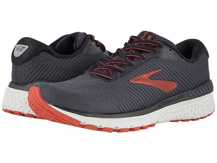 Brooks  Adrenaline GTS 20 (Black/Ebony/Ketchup) Mens Running Shoes