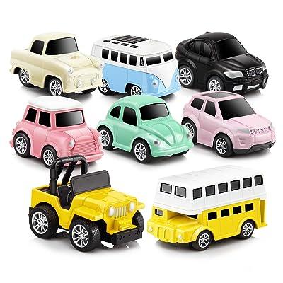 GEYIIE Pull Back Cars,8 Pack Mini Cars Set Allo...