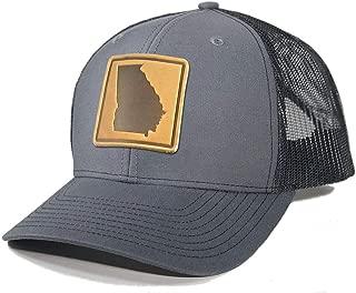 Homeland Tees Men's Georgia Leather Patch Trucker Hat