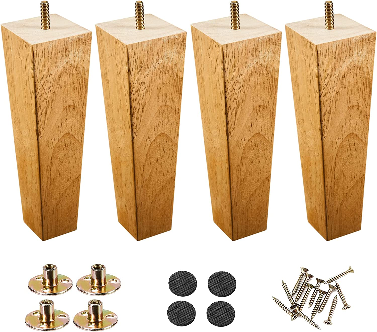 Wood Furniture Detroit Mall Legs Set quality assurance of 4 Mounting Inch Couch 8 Plates