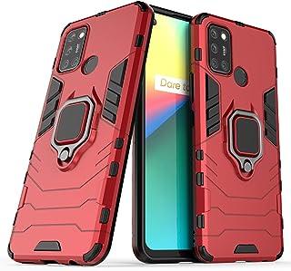 جراب FanTing لهاتف Realme 7i، قوي ومضاد للصدمات، مع حامل هاتف محمول، غطاء لهاتف Realme 7i-Red