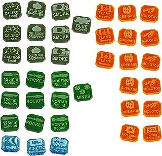 LITKO Gaslands Miniatures Game Weapons Tokens Set, Multi-Colored (38)