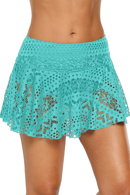 New arrival Cokarsey Women's Lace Hollow Atlanta Mall Out Bikini Swimsuit Skirted Bottom