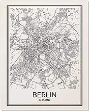 Berlin Poster, Berlin Map, Berlin Art, Map of Berlin, City Map Posters, Berlin Map Art, Germany Poster, Germany Map, City Poster, Germany Wall Art, Modern Poster Art, Black and White, 8x10